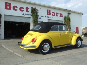 Yellow VW Bug Restoration 5