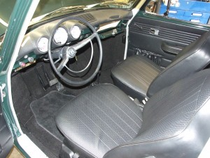 Interior of restored VW beetle
