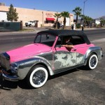 Side view of LIberace Rolls Royce