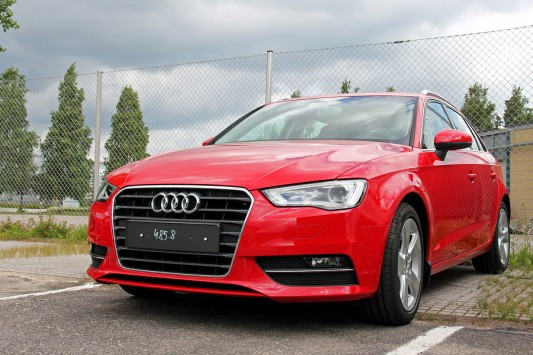 Red Audi A3