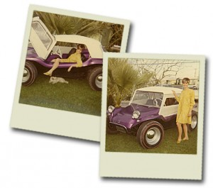 Stephens kids and the Volkswagen dune buggy